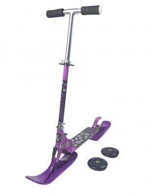 Снегокат-самокат Playshion, фиолетовый PLAYSHION. Цвет: черный, темно-фиолетовый