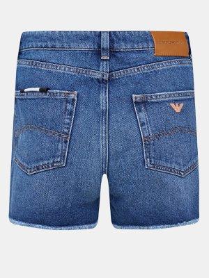 Джинсовые шорты Emporio Armani. Цвет: siniy