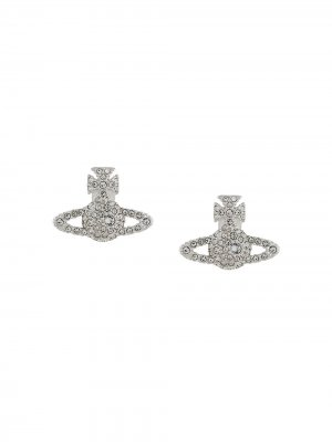 Декорированные серьги Orb Vivienne Westwood. Цвет: серебристый