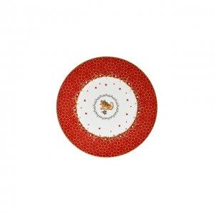 Тарелка салатная Traineau Noel Rouge Bernardaud. Цвет: красный