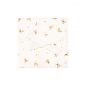 Хлопковое одеяло Polo Ralph Lauren. Цвет: белый