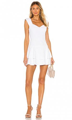 Платье brinda Alice + Olivia. Цвет: белый