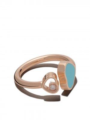 Кольцо Happy Hearts из розового золота с бриллиантом Chopard. Цвет: розовый