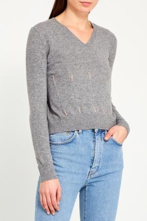 Пуловер Marc Jacobs No Name. Цвет: серый
