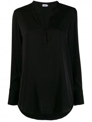 Блузка оверсайз с длинными рукавами Filippa K. Цвет: черный