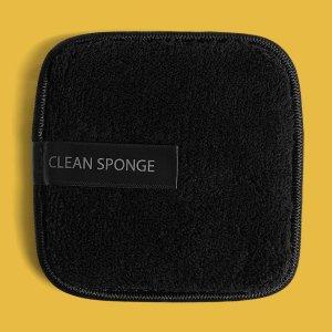 1шт Спонж-пуховка для снятия макияжа SHEIN. Цвет: чёрный