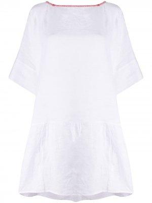 Расклешенное платье с вышивкой Altea. Цвет: белый