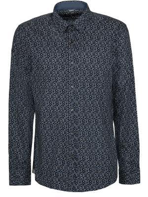 Хлопковая рубашка MICHAEL KORS. Цвет: разноцветный