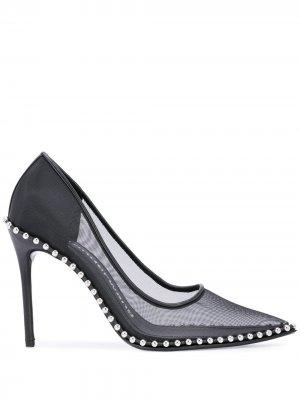 Туфли-лодочки Rie с сетчатым верхом Alexander Wang. Цвет: черный