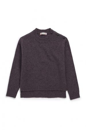 Шерстяной серый пуловер Bonpoint. Цвет: серый