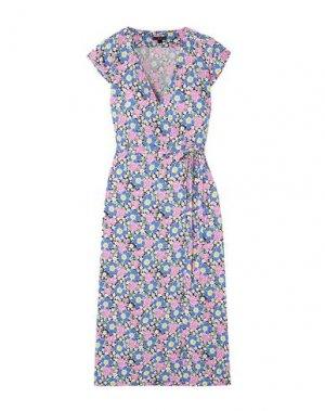Платье длиной 3/4 J.CREW. Цвет: синий