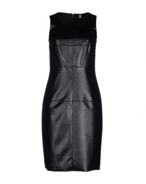 Короткое платье 1-ONE. Цвет: черный