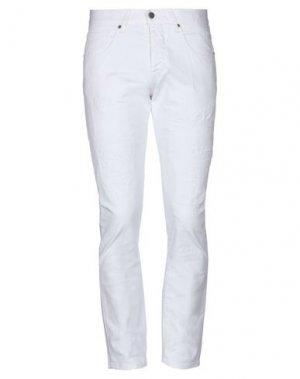 Джинсовые брюки 2 MEN. Цвет: белый