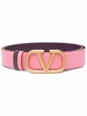Ремень с пряжкой VLogo Signature Valentino Garavani. Цвет: розовый