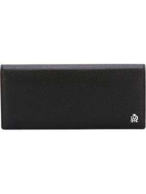 Длинный бумажник Dunhill. Цвет: чёрный