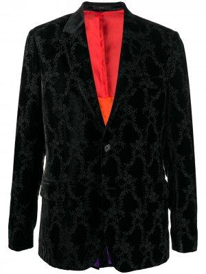 Жаккардовый однобортный пиджак Paul Smith. Цвет: черный