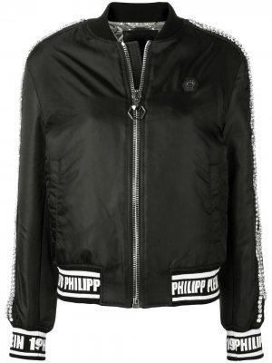 Embellished bomber jacket Philipp Plein. Цвет: черный