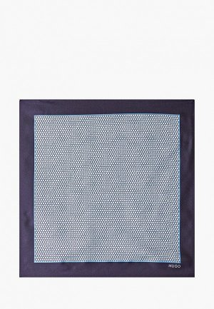 Платок носовой Hugo Pocketsquare 33x33cm. Цвет: синий