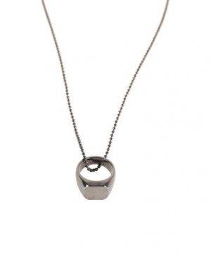 Ожерелье DSQUARED2. Цвет: стальной серый