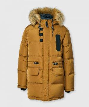 Пуховая куртка для мальчиков O`Stin. Цвет: горчичный