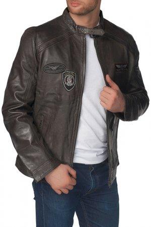 Кожаная куртка REDSKINS. Цвет: темно корочневый