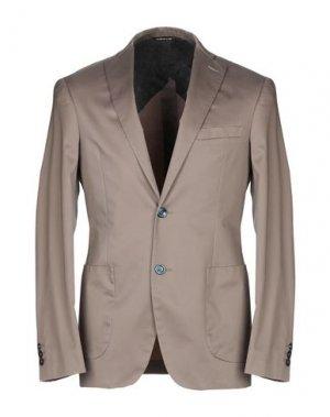 Пиджак TONELLO. Цвет: голубиный серый