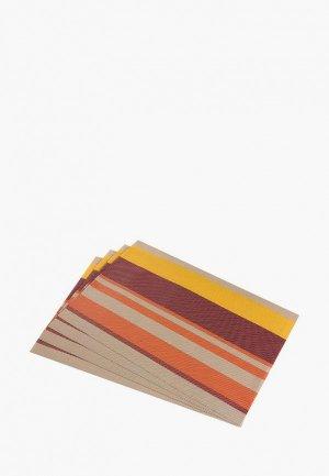 Комплект салфеток сервировочных El Casa. Цвет: разноцветный