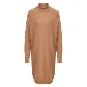 Кашемировое платье Colombo. Цвет: бежевый