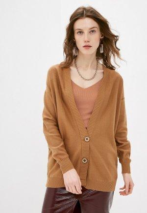 Кардиган Katya Erokhina Stream Brown. Цвет: коричневый