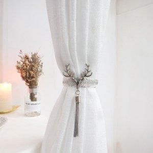 Завязка для штор в форме леньи рога SHEIN. Цвет: серебряные
