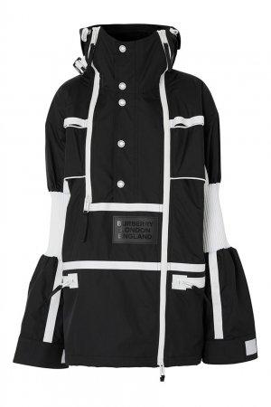 Двухцветная куртка в спортивном стиле Burberry. Цвет: черно-белый