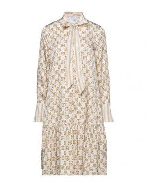 Короткое платье BEATRICE. Цвет: бежевый