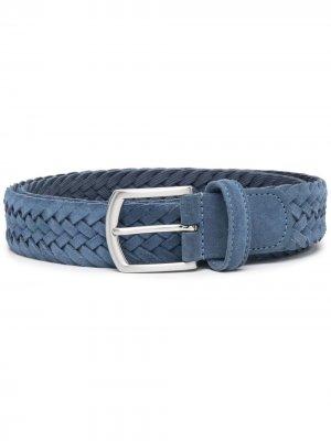 Andersons плетеный ремень с пряжкой Anderson's. Цвет: синий