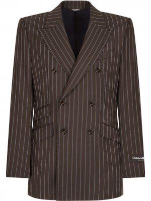 Костюм в тонкую полоску Dolce & Gabbana. Цвет: коричневый