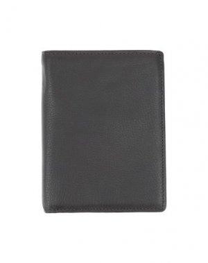 Бумажник L. PETERSON. Цвет: темно-коричневый
