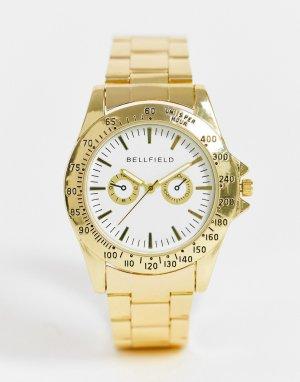 Золотистые мужские часы-браслет с циферблатом -Золотистый Bellfield