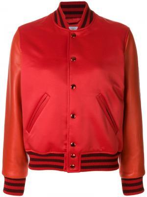 Куртка-бомбер на пуговицах Givenchy. Цвет: красный