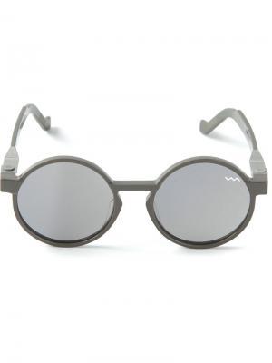 Солнцезащитные очки в круглой оправе WL000 Vava. Цвет: серый