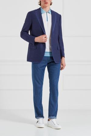 Пиджак из шерсти и кашемира Stefano Ricci. Цвет: синий