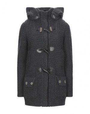 Пальто BARK. Цвет: свинцово-серый