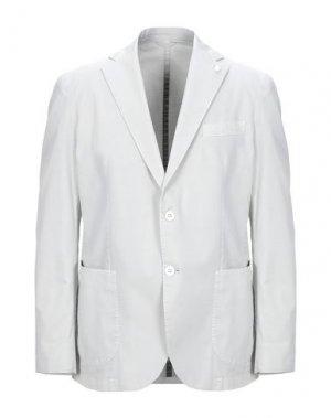 Пиджак LUIGI BIANCHI ROUGH. Цвет: светло-серый