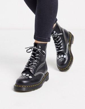 Черные высокие ботинки x CBGB 1460-Черный Dr Martens
