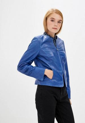 Куртка кожаная Madeleine MP002XW1GL1I. Цвет: синий