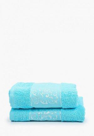 Набор полотенец Эго 2 шт., 50х85 см. Цвет: бирюзовый