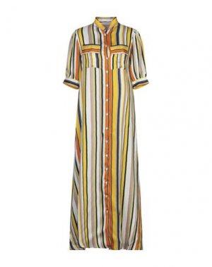 Длинное платье MARIUCCIA. Цвет: охра