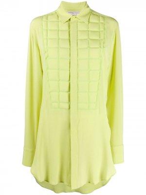 Рубашка с тиснением Bottega Veneta. Цвет: зеленый