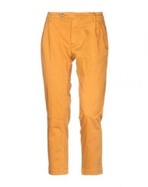Повседневные брюки MAISON CLOCHARD. Цвет: охра