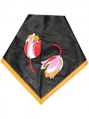 Бандана с цветочной вышивкой Marni. Цвет: черный