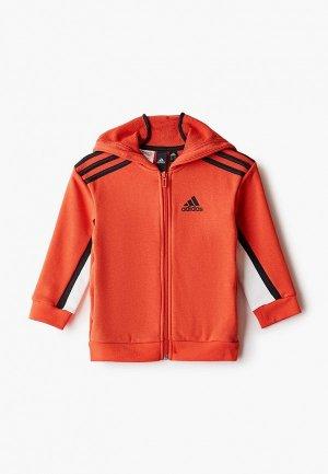 Толстовка adidas B BOLD FZ HD. Цвет: оранжевый