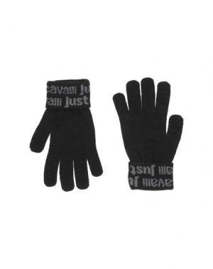 Перчатки JUST CAVALLI. Цвет: черный